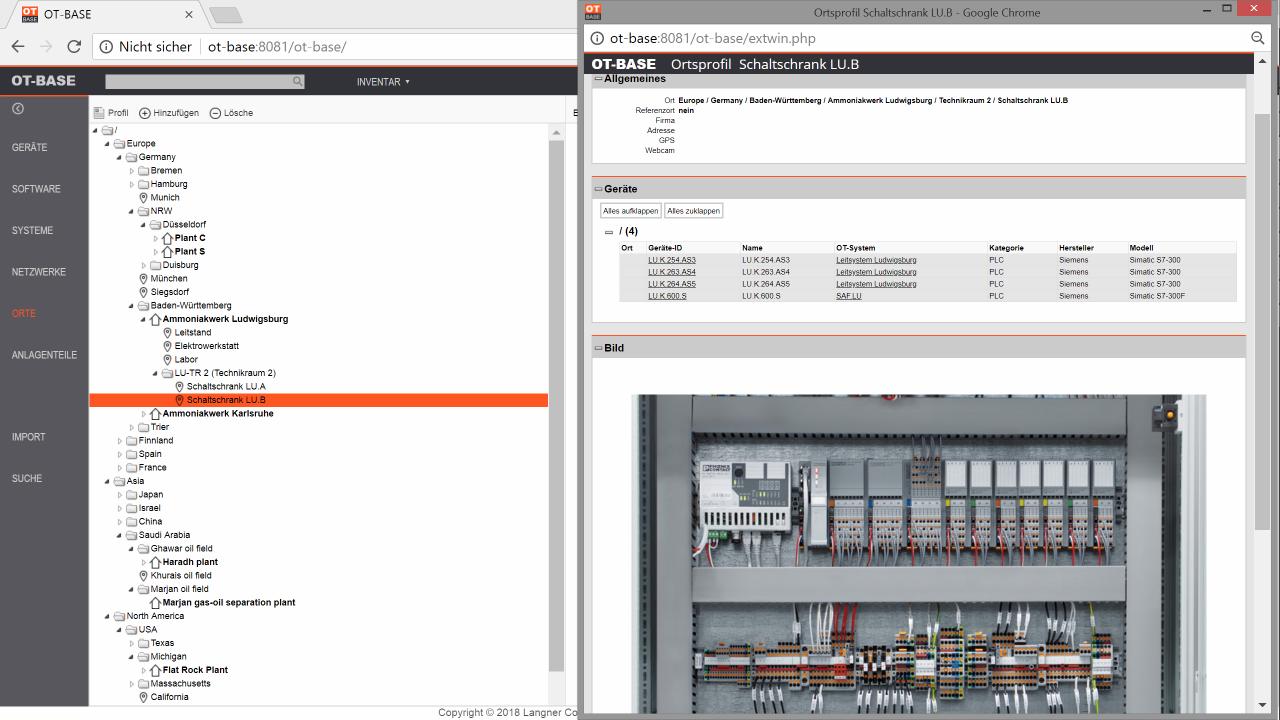 OT-BASE Asset Management System für die digitale Industrieautomation
